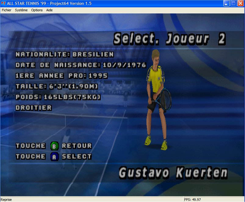 Screenshot 2 du jeu All Star Tennis '99
