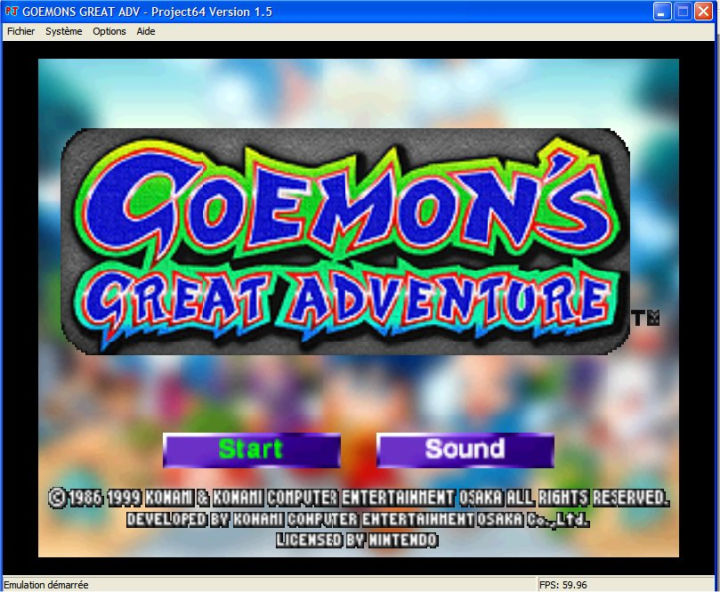 Screenshot 1 du jeu Goemon's Great Adventure