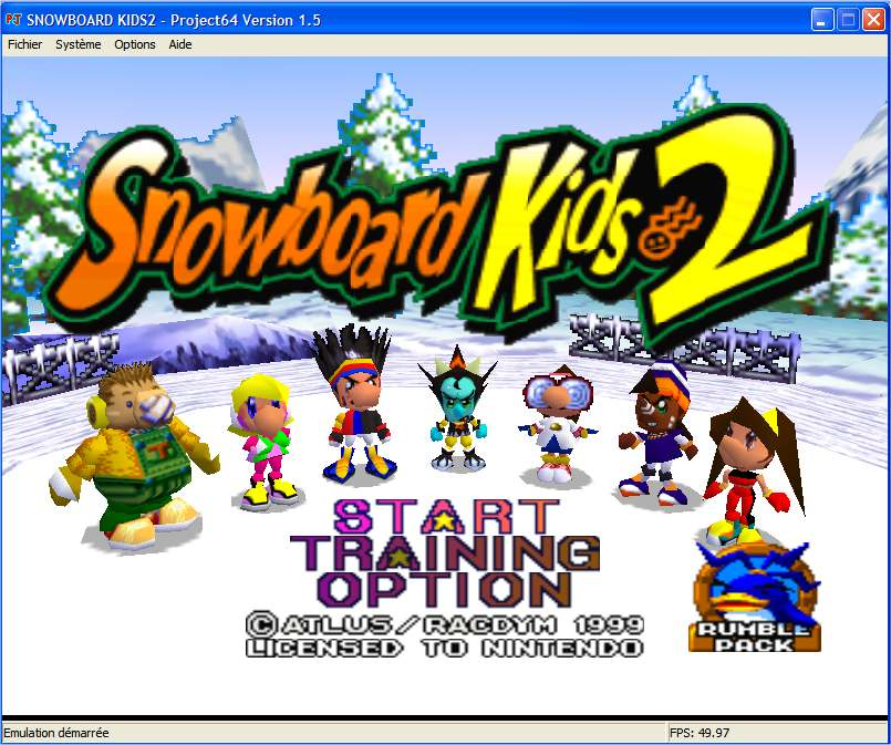 Screenshot 1 du jeu Snowboard Kids 2
