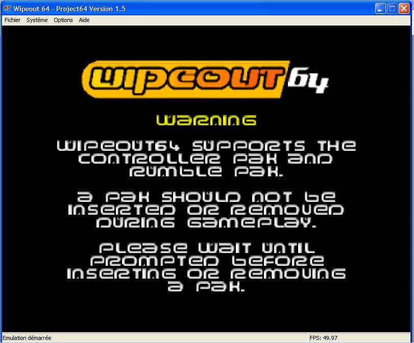 Screenshot 1 du jeu WipeOut 64